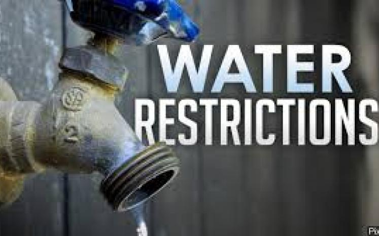 WATER RESTRICTION IN PLACE  June 25, 2020    Due to an increased demand for water during the summer months the Whately Water